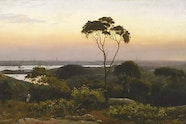 AGNSW Collection, C.H. Hunt, Sydney from the North Shore, 1888
