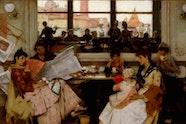 AGNSW Collection, Samuel Melton Fisher, Festa: a Venetian café, 1889