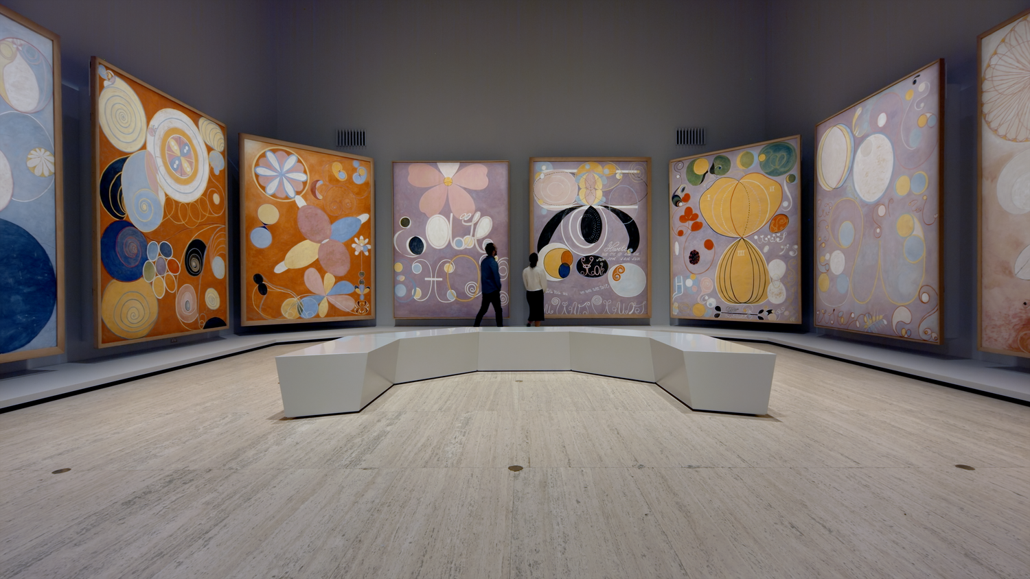 Installation view of the Hilma af Klint exhibition, 'The Secret Paintings'. Photo © AGNSW