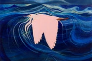 Brett Whiteley The pink heron 1969. Art Gallery of New South Wales, Gift of Patrick White 1979 © Wendy Whiteley