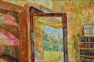 Grace Cossington Smith 'Interior with wardrobe mirror' 1955.