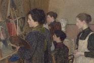 E Phillips Fox Art students 1895