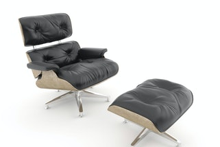 Eames lounge chair and ottoman. Photo: Pablo Scapinachis Armstrong / Alamy Stock Photo