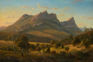 Eugene von Guérard Mount Abrupt, the Grampians, Victoria 1856, Art Gallery of New South Wales, purchased 1968