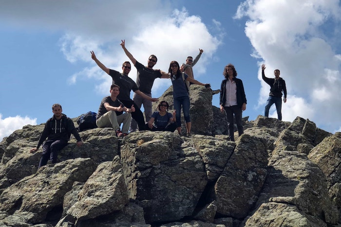 Stryborgs at the top of a mountain