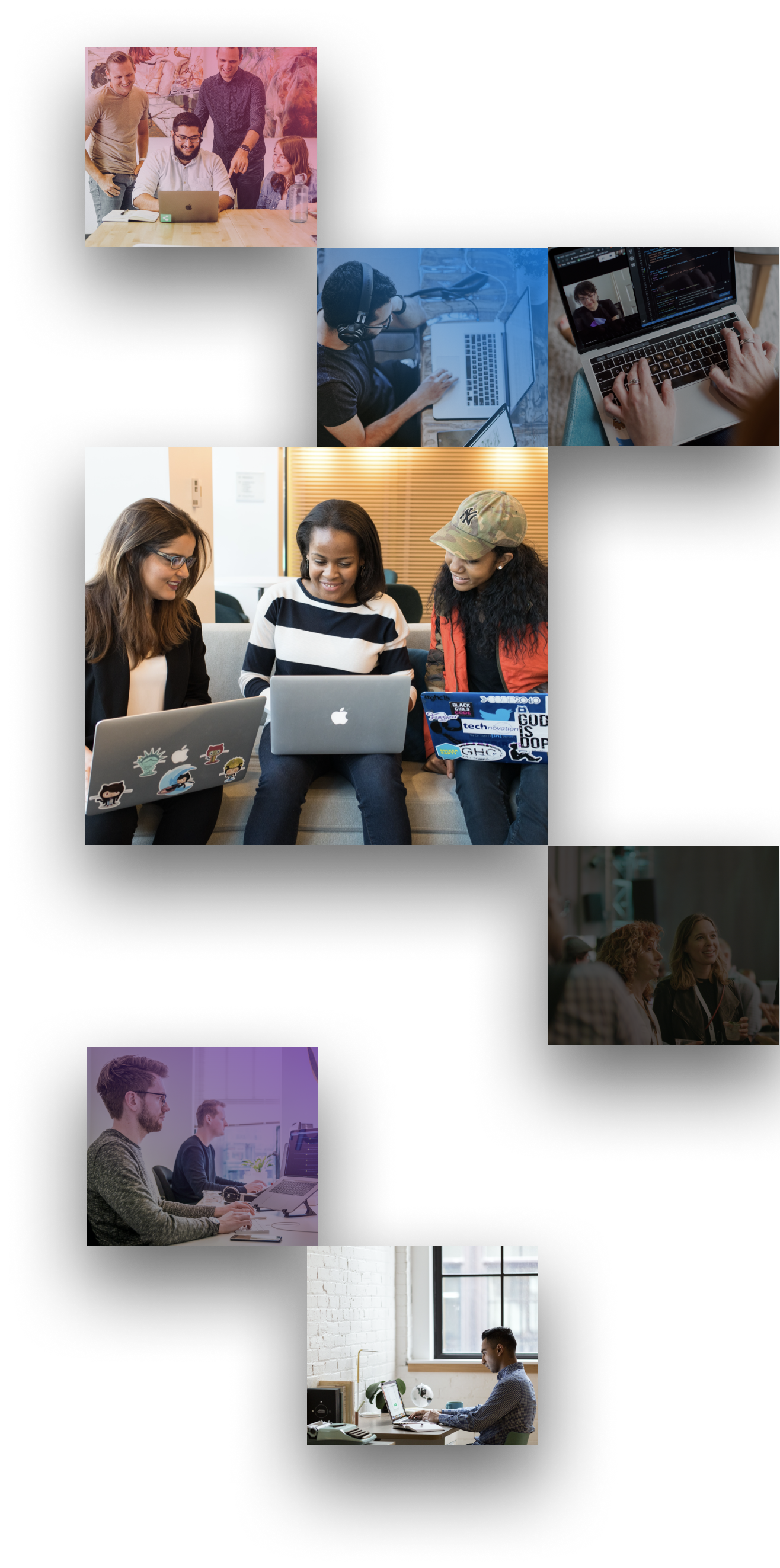 A Mosaic of photos of HashiCorp employees