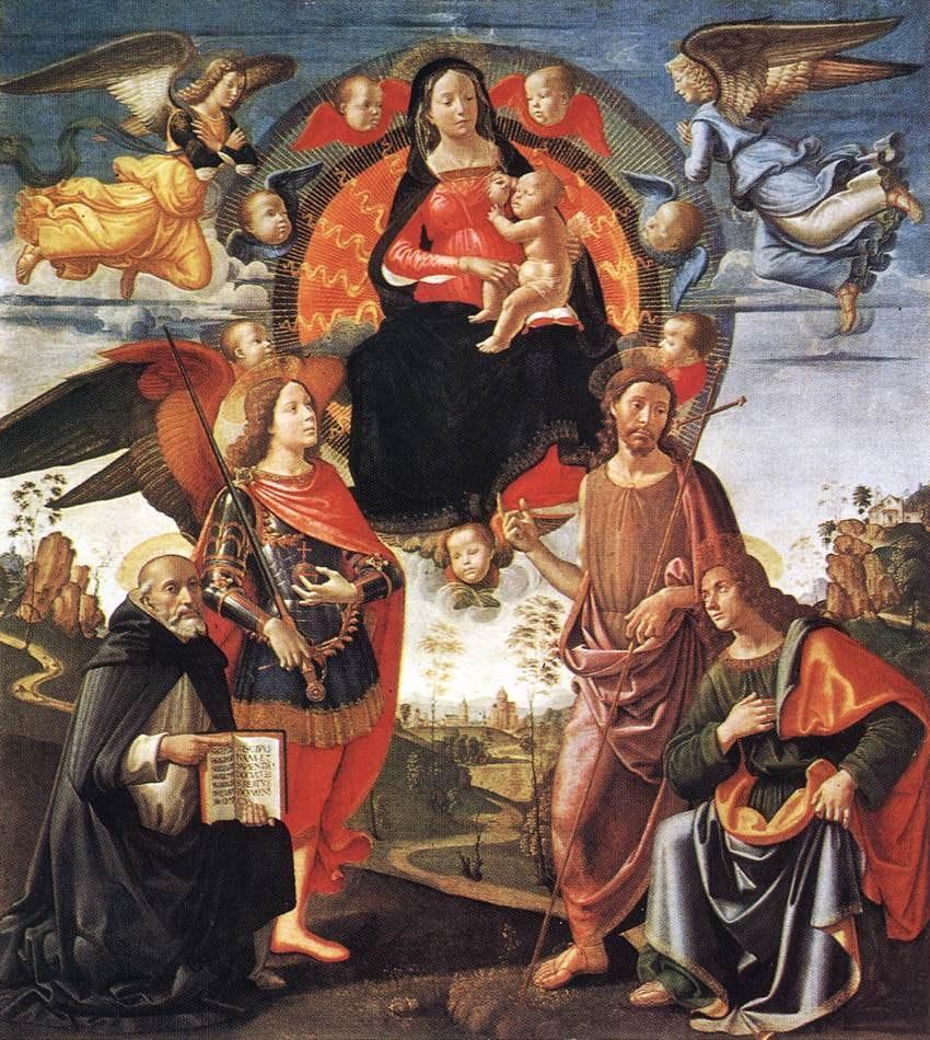 1461934490 domenico ghirlandaio madonna in glory with saints munich