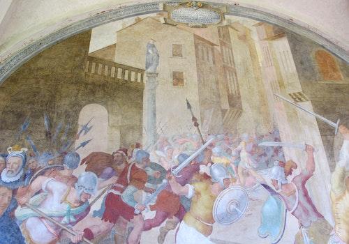 1507036447 chiostro grande di smn lato est 04 lorenzo sciorina battaglia tra cattolici ed eretici al tempo di s pietro martire 1581 84 03