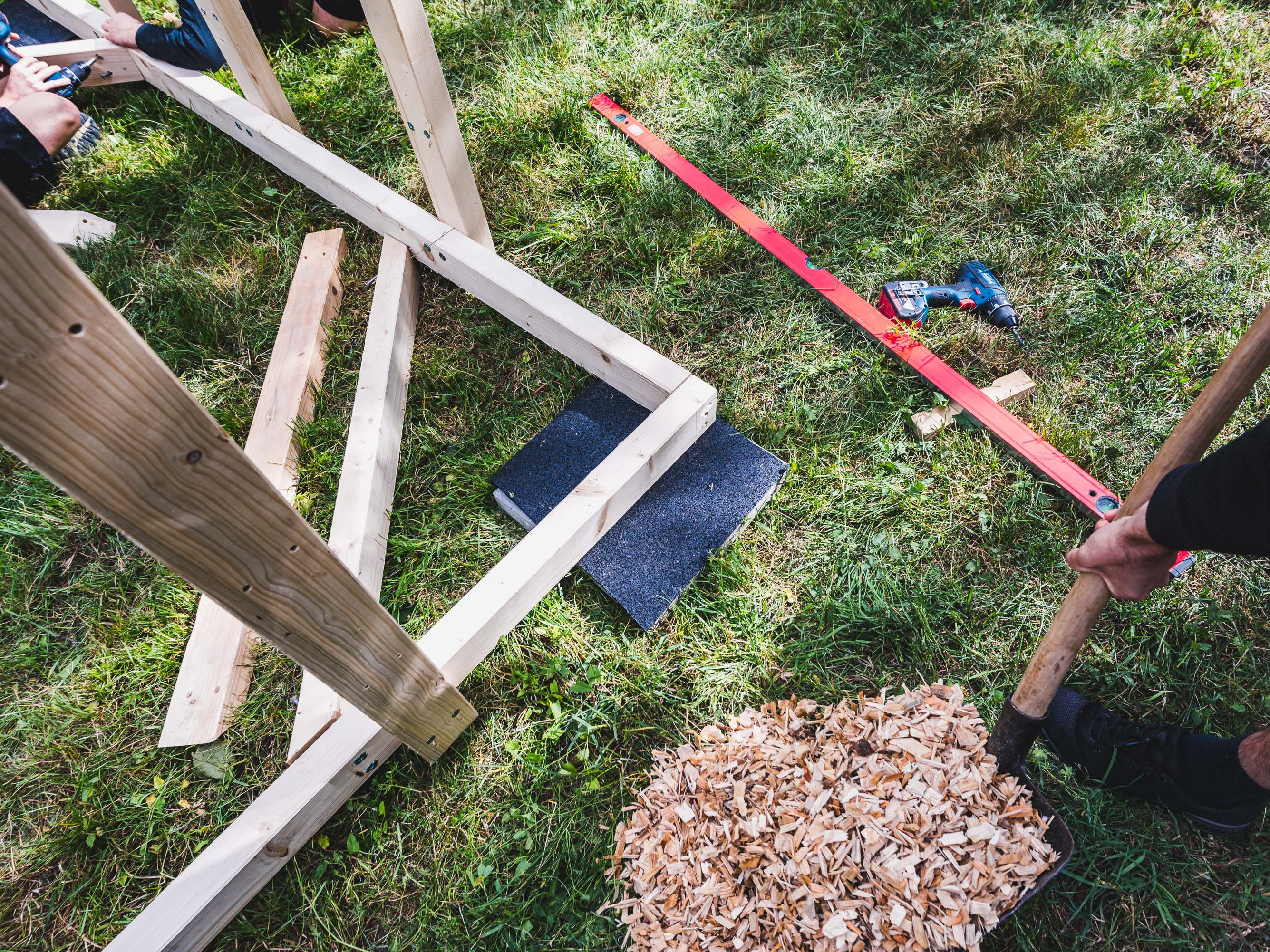 Aufbau des Boulderwürfels