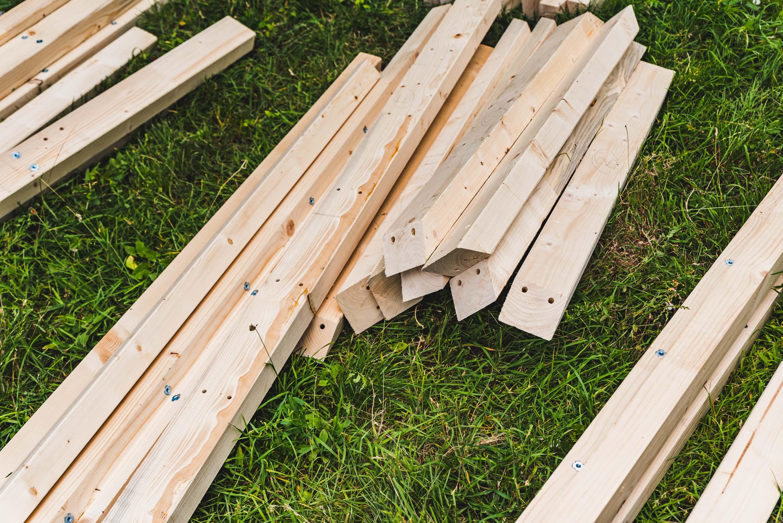 Holzteile vom Boulderwürfel