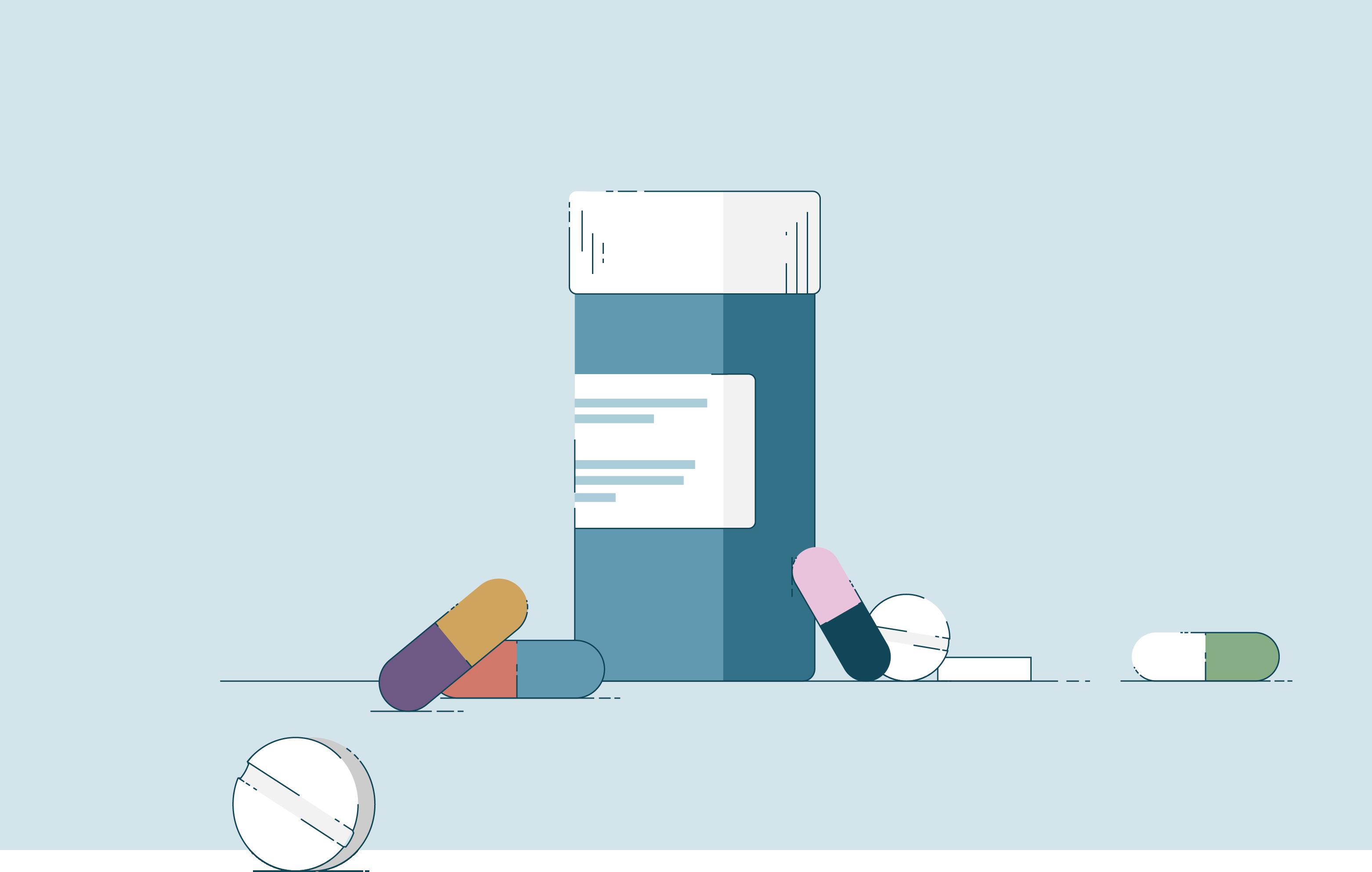 Een illustratie van medicijnen