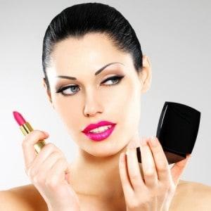 lip augmentation, woman with lipstick