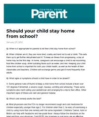 Dr. Halaas - February 2012 - Central Penn Parent Magazine