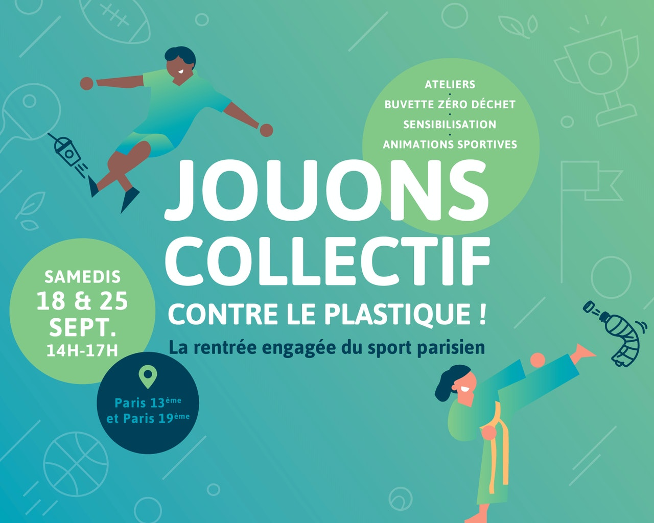 Sport Zéro Plastique fait sa rentrée · Venez rencontrer les clubs et découvrir le projet