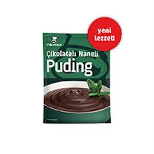 Çikolatalı Naneli Puding