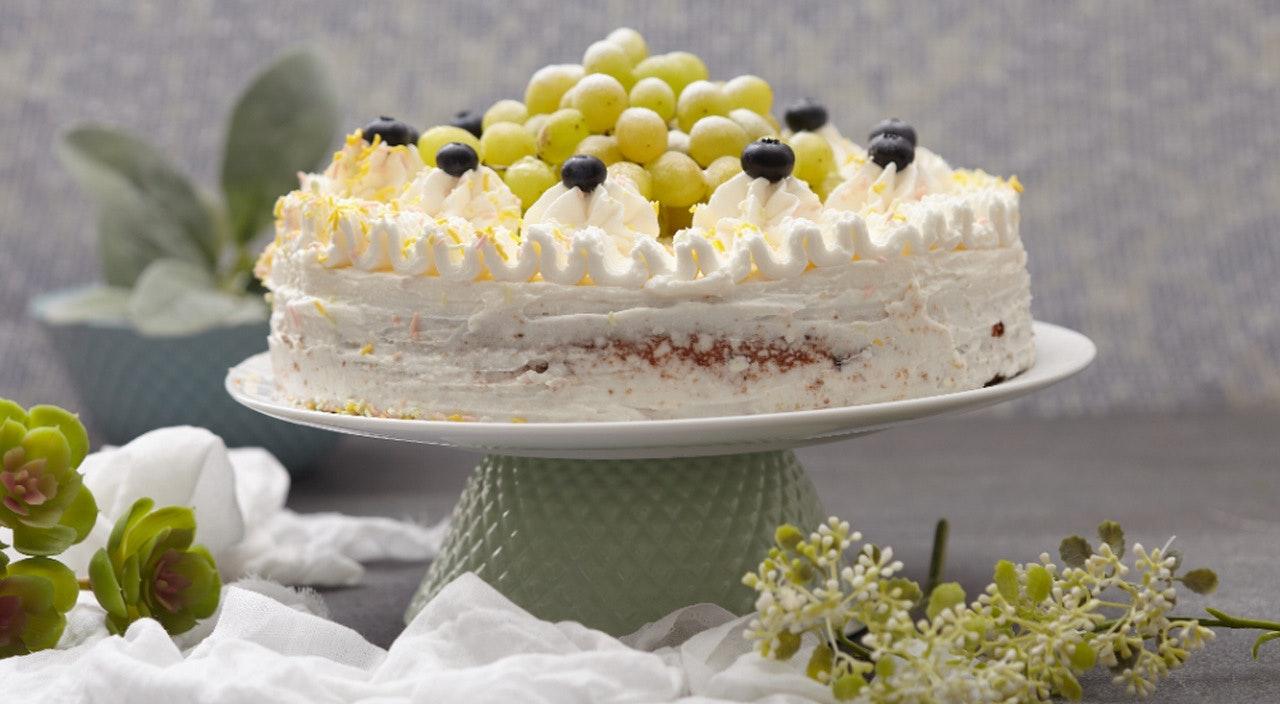 üzümlü ve file bademli kek