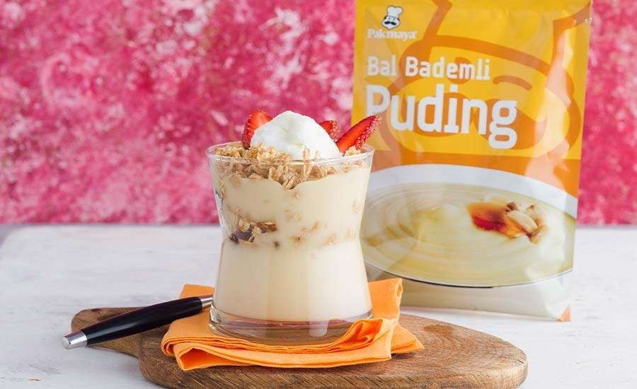 Maraş Dondurmalı ve Yulaf Ezmeli Bal Bademli Puding