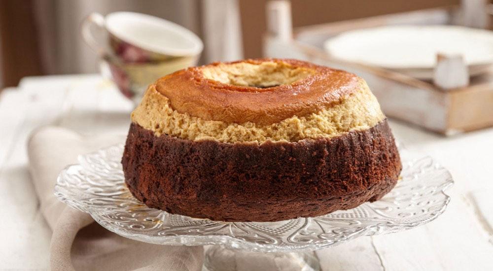 Krem karamelli kek