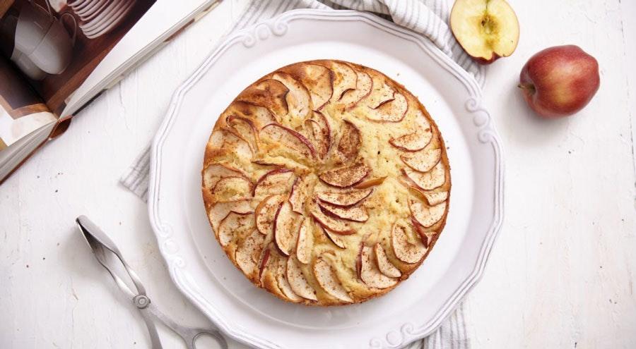 elmalı ve cevizli kek
