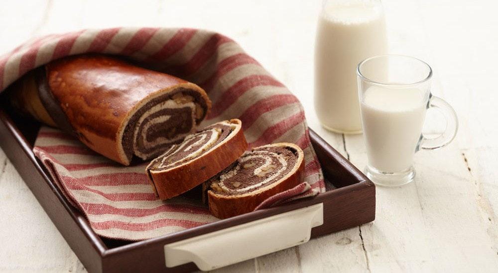 kakaolu ve cevizli ekmek