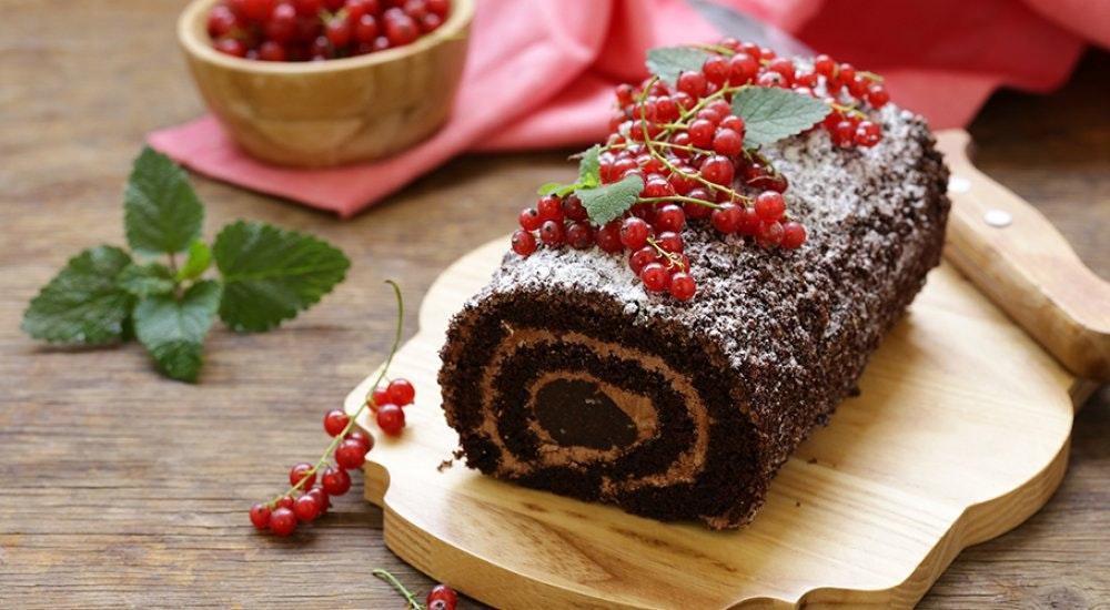 karlı yeni yıl pastası