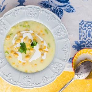 Nohutlu ve Kremalı Sebze Çorbası Tarifi