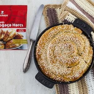 Kepekli ve Humus Dolgulu Poğaça Çöreği Tarifi