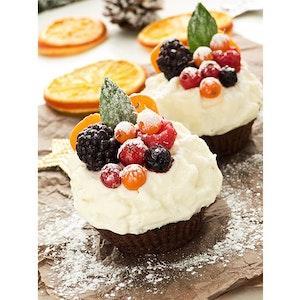 Karlı Mini Kekler Tarifi