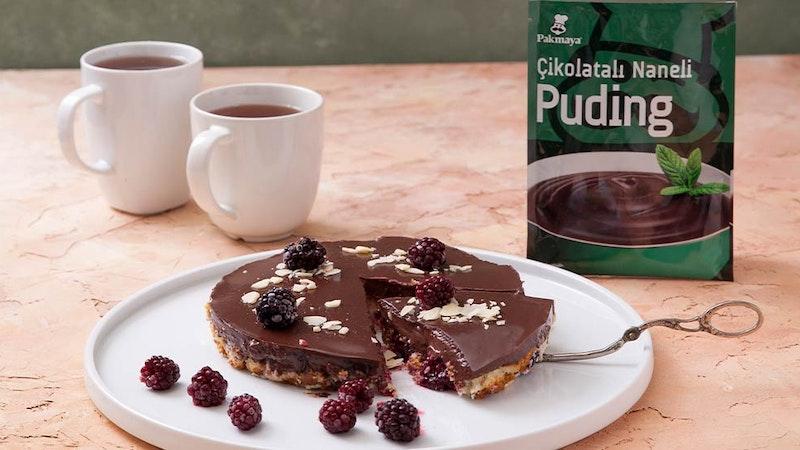 Çikolatalı Naneli Pudingli Pratik Pasta Tarifi