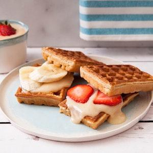 Vanilyalı Tarçınlı Pudingli Waffle Tarifi