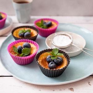 Yaban Mersinli Mini Cheesecake Tarifi