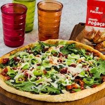 Pırasalı ve Ispanaklı Poğaça Pizza Tarifi