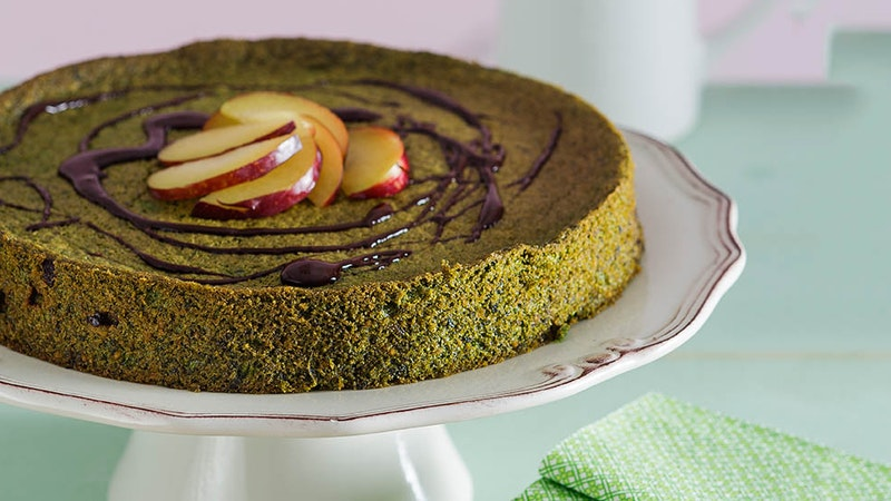 Ispanaklı ve Bitter Parça Çikolatalı Kek Tarifi