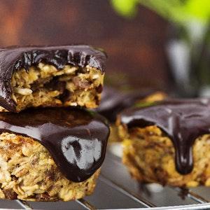 Granola ve Çikolatalı Muffin Bisküvi Tarifi