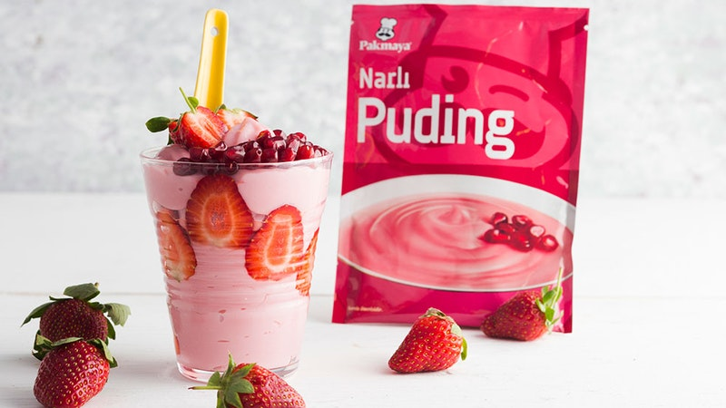 Vanilyalı Dondurmalı Narlı Puding Tarifi