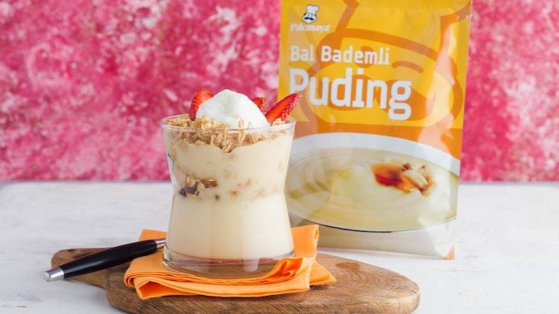 Maraş Dondurmalı ve Yulaf Ezmeli Bal Bademli Puding Tarifi