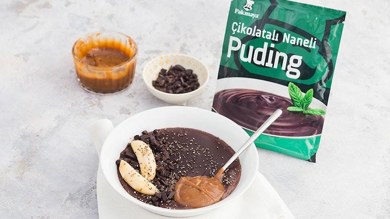 Fıstık Ezmeli Çikolatalı Puding Tarifi