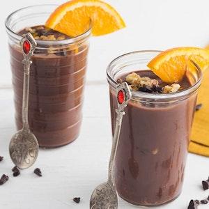 Taze Portakallı Çikolatalı Puding Tarifi