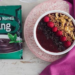 Taze Meyve Püreli Çikolatalı Naneli Puding Tarifi