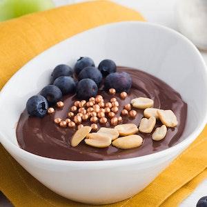 Taze Yaban Mersinli Çikolatalı Puding Tarifi