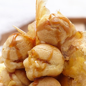 Bal Badem Pudingli Profiterol Pastası Tarifi