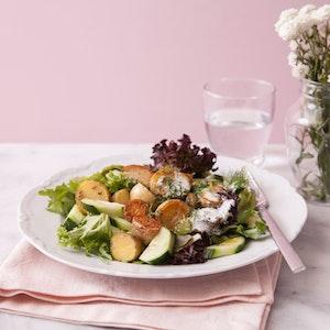 Krema Soslu Patates Salatası Tarifi