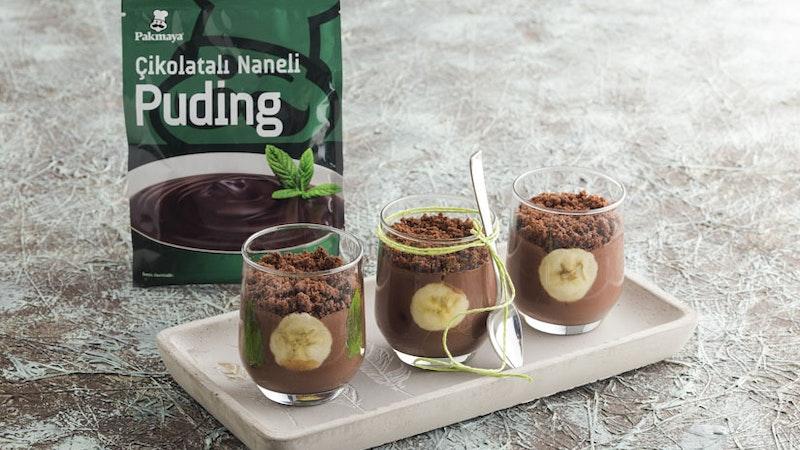 Naneli ve Çikolatalı Pudingli Tadımlık Pudingler Tarifi
