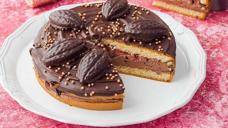 Kestane Püreli ve Frambuazlı Pasta Tarifi