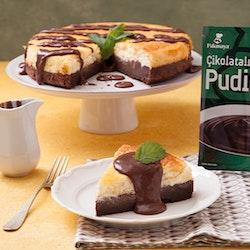 Çikolatalı ve Naneli Puding Soslu Cheesecake Tarifi