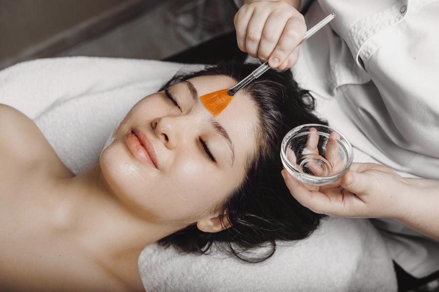 Woman having a classic facial