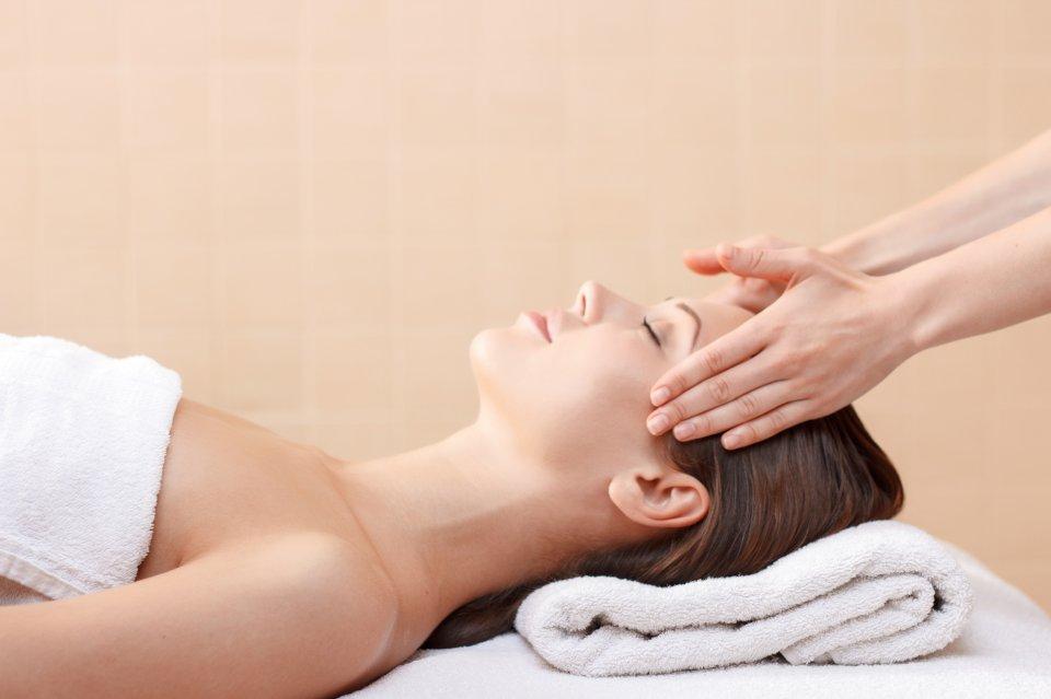 Woman receiving a relaxing massage treatment