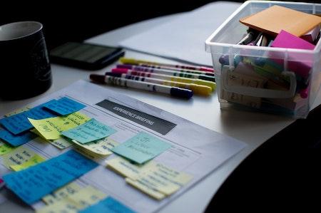 Photo représentant le business model canva