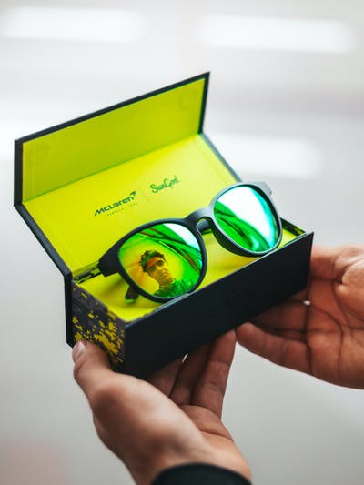 Lando Norris Limited Edition Sunglasses in their box
