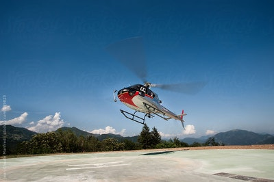 Helicopter flights service service acacia firenze